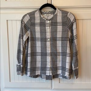 Madewell Button-up With Pleated Back